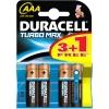 Patarei AAA 1,5V Duracell Turbo MAX / 4tk pakis