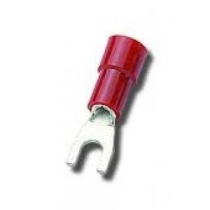 Kaabliking kahvel M3 0,25...1,5mm² juhtmele, punane