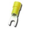 Kaabliking kahvel M4 4,0...6,0mm², juhtmele, kollane 4,3x8,0mm 100tk/pk