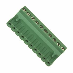 Terminal block R5.08mm, 10-ne, nurgaga 0.05-3.00mm juhtme
