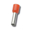 Juhtmehülss 1,50mm², isoleeritud, punane, L=8,2mm