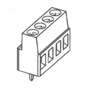 Terminal block R5mm, 4-ne, otse, 0.05-3.00mm juhtmele