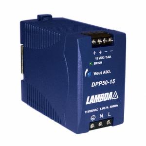 Toiteplokk DIN-latile 12-15VDC 3,4A 50W 85-264VAC 45*75*91