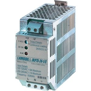 Toiteplokk DIN-latile 24VDC 3,1A 75W 85-265VAC 50*97*110mm