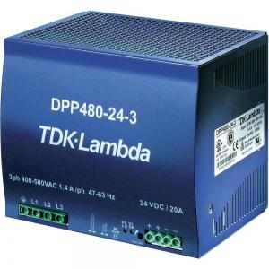 Toiteplokk DIN-latile 24VDC 20A 3faasi 480W 340-575VAC