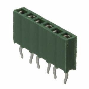 AMPMODU II 2,54mm 1x6 pesa PCB otse, roheline HV-100