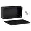 Plastkarp 120x65x36mm (ABS), must, IP54