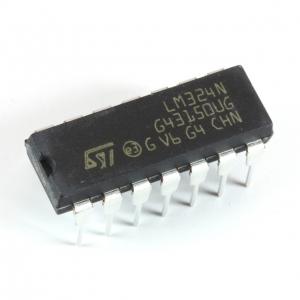 Quad Op amp, LM324N DIL14