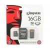 KINGSTON 16GB microSDHC Mobility Kit, mälukaart+adapterid