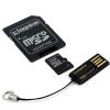 KINGSTON 4GB microSDHC Mobility Kit, mälukaart+adapterid