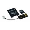 KINGSTON 8GB microSDHC Mobility Kit, mälukaart+adapterid