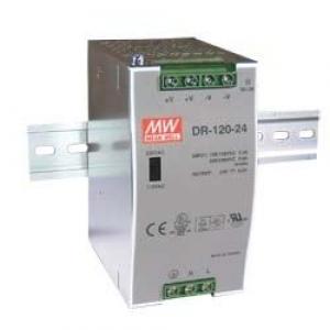 Toiteplokk DIN-liistule, 120W / 5A, sisend 88-132 VAC / 176-264 VAC, väljund 24 VDC, -10 kuni 60°C