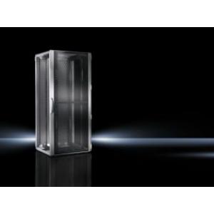 Seadmekapp TS-IT T1 RAL7035 WHD 600x2200x1000 47U perforeeritud uksed