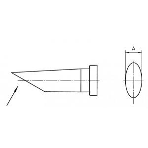 LT-CC kolviots ovaal 3,2x6,0mm 45° lõigatud nurgaga