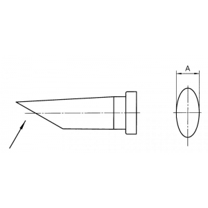 LT DD 45° SOLDERING TIP 4.0MM (10tk)