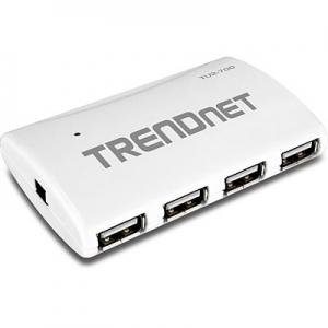 USB 2.0 hub, 7 porti, toiteplokk komplektis