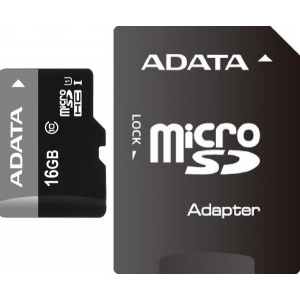 A-DATA  Micro SDHC UHS 16GB CLASS 10+ADAPTER