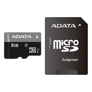 Mälukaart A-DATA  Micro SDHC UHS 8GB CLASS 10+ADAPTER