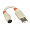Adapter USB 2.0 - PS/2 0.1m, sobib ainult Lindy U Series KVM switchile