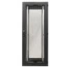 Seadmekapp 45U 2120x800x1000 k,l,s, perforeeritud uksed, kandevõime kuni 600kg, must, TOP II