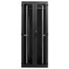 Seadmekapp 45U 2120x800x1000 k,l,s, perforeeritud uksed, kandevõime kuni 1000kg, must, WEST-B