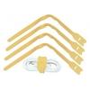 Kaablisidemed 300mm, 10tk vibratsioonikindlad, kollane