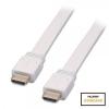 HDMI kaabel 7.5m, Flat Standard Speed, valge, 1080p