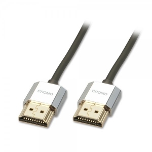 HDMI kaabel 1.0m, CROMO Slim Active High Speed + Ethernet, 2160p, 3D