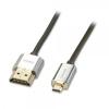HDMI - Micro HDMI kaabel 5.0m, CROMO Slim Active High Speed + Ethernet, 2160p, 3D