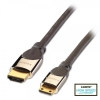 HDMI - Mini HDMI kaabel 0.5m, CROMO High Speed HDMI + Ethernet, hall, 2160p, 3D