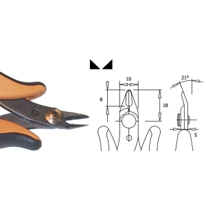 Lõikurid Cu 1mm + safety clip TR-25PA  otsad 21° 8mm