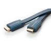 HDMI kaabel 3.0m, flat, kullatud, OFC, topeltvarjega, 2160p