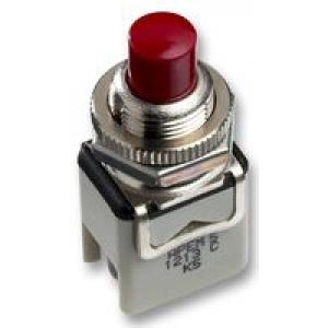 APEM 1212C-6 (RED) Nupplüliti 2A 250VAC avanevad kontaktid, punane