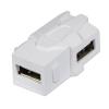 Keystone moodul: USB A (F) - (F) 90kraadise nurgaga, valge