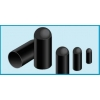 Termokahanevad kaabliotsad ø25,4mm/11,4mm L=68,6mm, must 25tk/pk