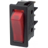 Klahvlüliti 16A 1xON-OFF 30x11mm, punane valgustus