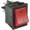 Klahvlüliti 20A 2xON-OFF 30x22mm, punane valgustus
