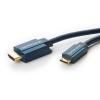 HDMI - Mini HDMI kaabel 5.0m, kullatud, OFC, topeltvarjega, 2160p