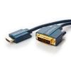 HDMI - DVI-D kaabel 10.0m, kullatud, OFC, topeltvarjega, 1080p
