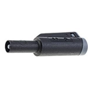 Banaanpistik 4mm 36A, 56mm; 2.5mm2 must, kruvikinnitus