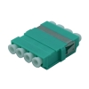 FO adapter multimode LC quad aqua