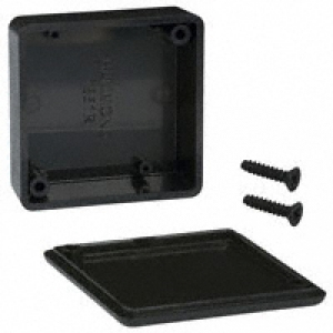 ABS-PLASTIC.50x50x20mm BLACK IP54