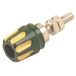 Banaanpesa 4mm, 16A kollane/roheline d=6mm
