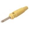 Banaanpistik 4mm 16A 60VDC kollane, joodetav