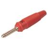 Banaanpistik 4mm 16A 60VDC punane, joodetav