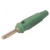 Banaanpistik 4mm 16A 60VDC roheline, kruvikinnitus
