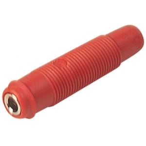 Banaanpesa 4mm, juhtmele, punane