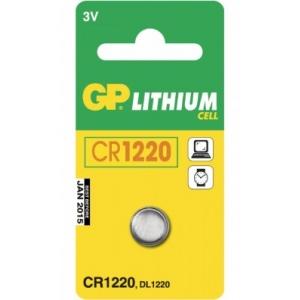 Liitiumpatarei 3V 12,5x2mm CR1220/BR1220