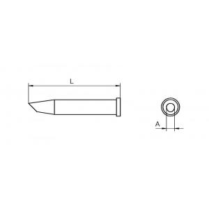 XT-CC kolviots 3,2mm 45° WSP-120