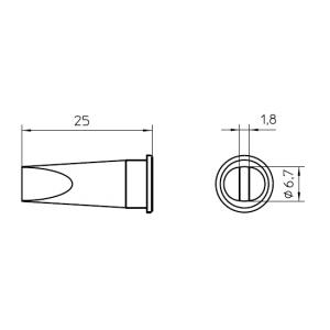 LHT-E kolviots lapik 6,7x1,8mm WSP-150